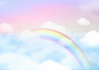 Rainbow on the sky poster