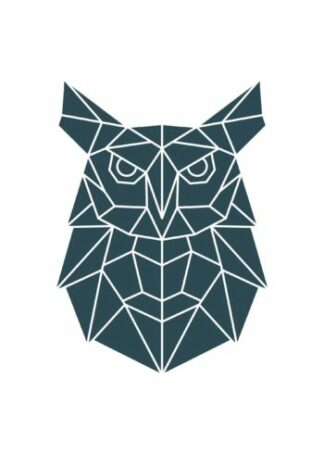 Polygonal owl illustration poster