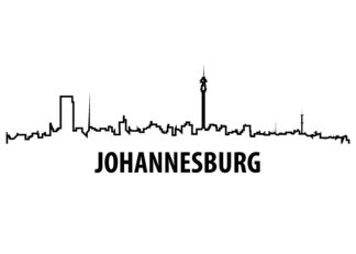Johannesburg outline illustration poster