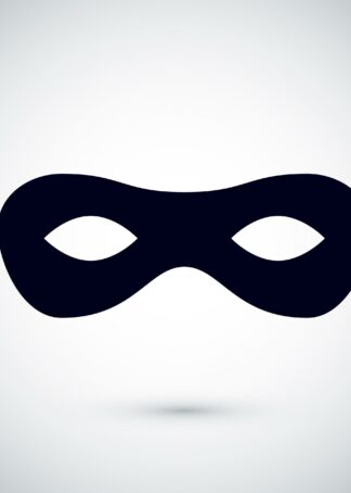 Black party mask in carnival incognito masquerade poster