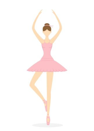 Ballerina wearing pink dress in assemblé ballet poster