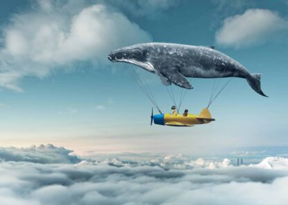 Flying dream whale poster