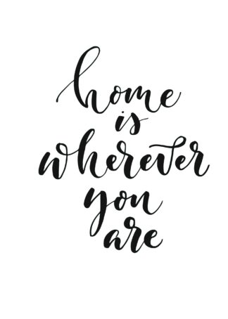 Home is wherever you are handwritten poster