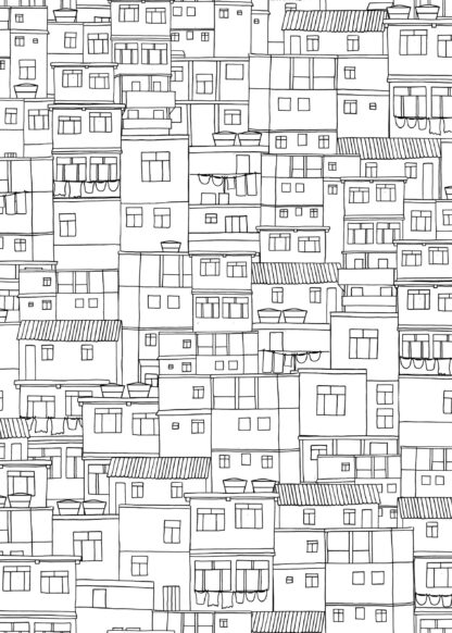 Favelas seamless pattern illustration poster