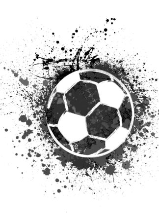 Football with splashed ink poster