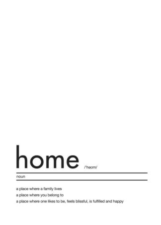 Home definition text poster
