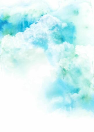 Watercolor illustration of cloud poster
