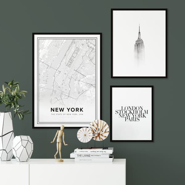 Maps and cities Posters