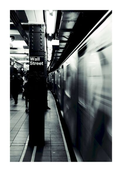 Subway black and white poster