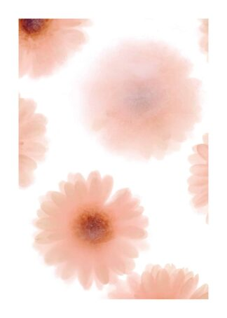 Flower-like pattern watercolor poster