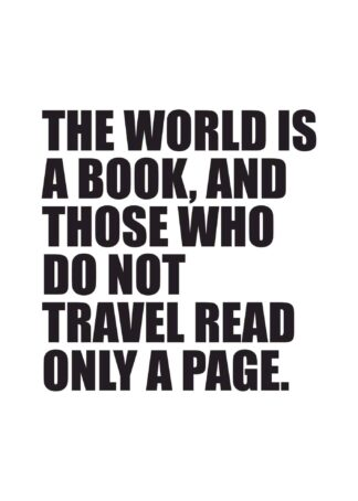 The world is a book text poster