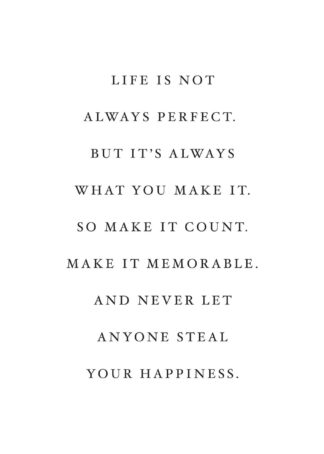 Life is not always perfect- positive quotes poster