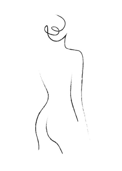 Abstract figure line art No.12 poster