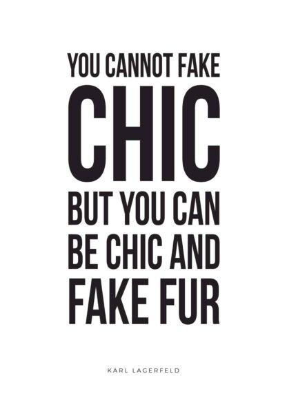 Karl Lagerfeld's fake fur quote poster