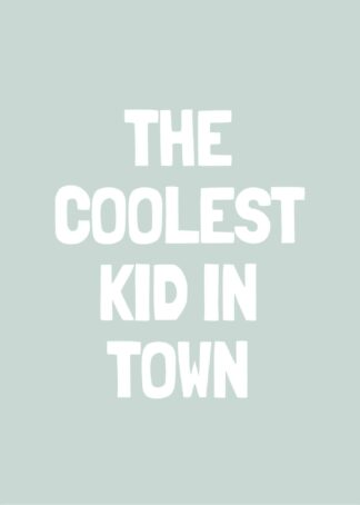 Coolest kid in town poster