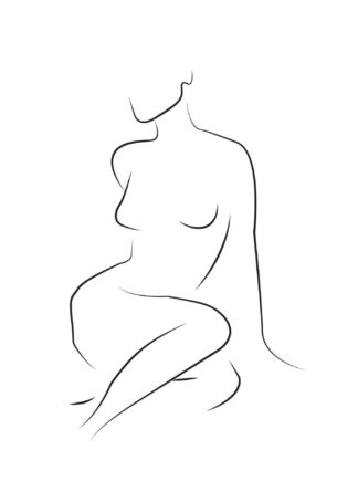 Abstract figure line art No.7 poster