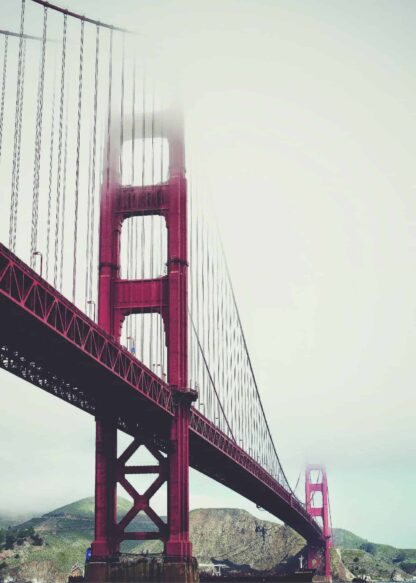 Golden Gate on a foggy day poster