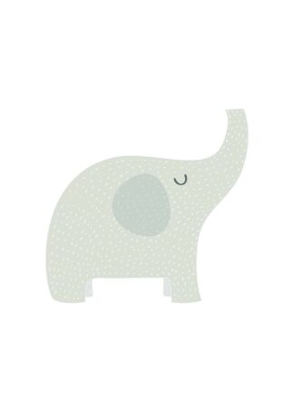 Happy elephant for kids room poster