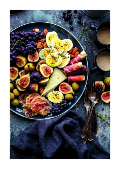 Fruit and bacon salad poster