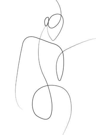 Abstract figure line art poster