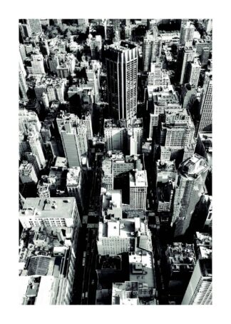 Big city black and white poster
