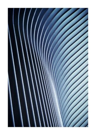 Parallel wavy lines abstract poster