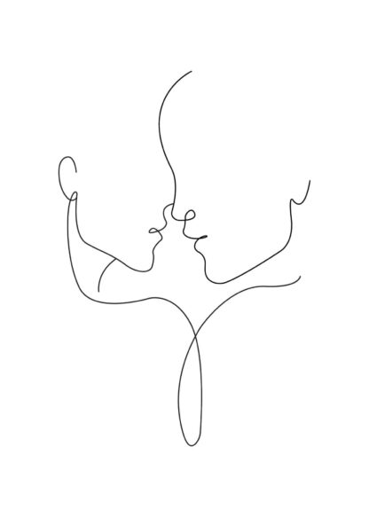 Abstract figure line art No.3 poster