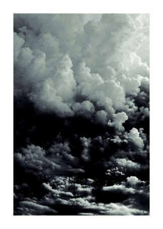 Dark clouds sky poster
