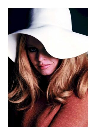 Brigette Bardot model hat pose poster