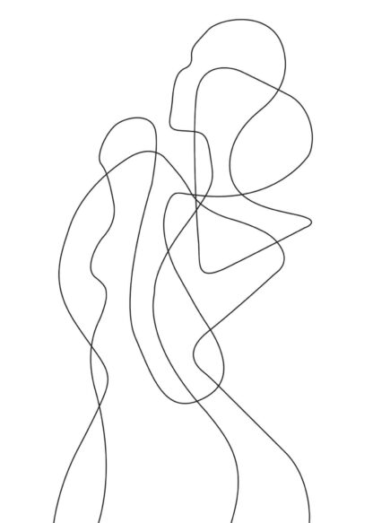 Abstract figure line art No.4 poster
