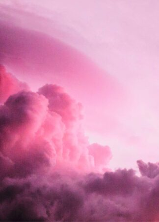 Pink sunset above cloud poster