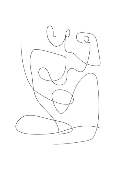 Abstract figure line art No.2 poster