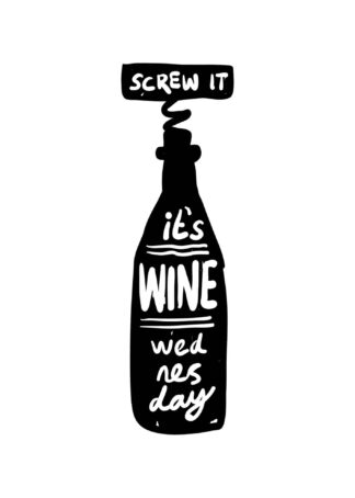 It is wine wednesday poster