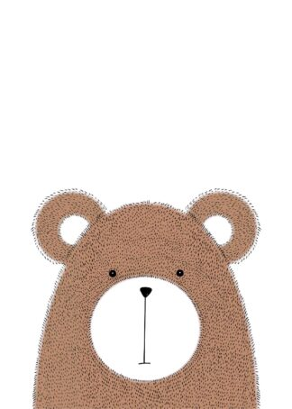 Cute hairy bear poster