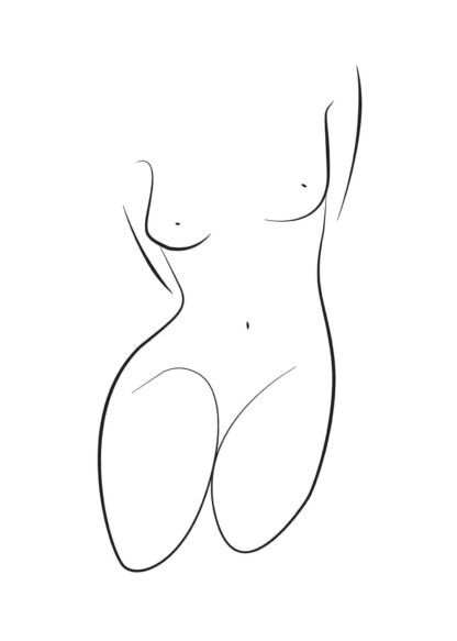 Abstract figure line art No.6 poster