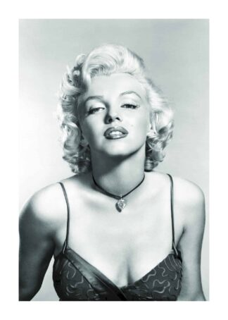 Marilyn Monroe diamond necklace poster