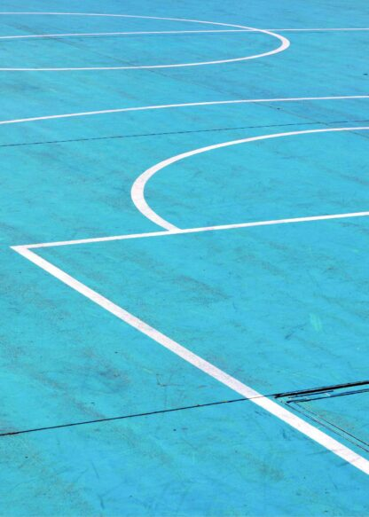 Basketball court lines poster