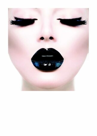 Black lips illustration poster
