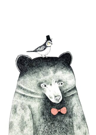 The bear and the bird poster