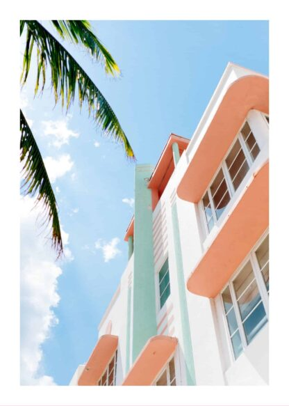 Pastel tropical hotel poster