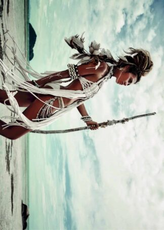 Warrior woman by the sea poster