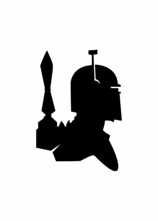 Bounty hunter boba fett illustration poster