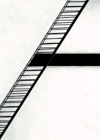 Staircase illustration poster