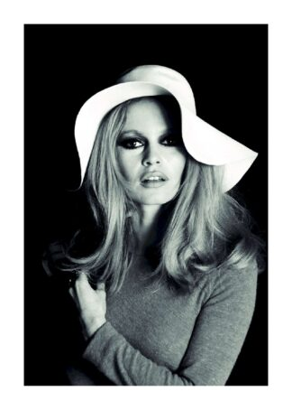 Brigitte Bardot in black and white poster