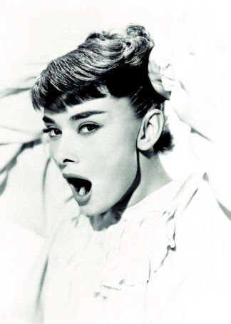 Audrey while yawning poster
