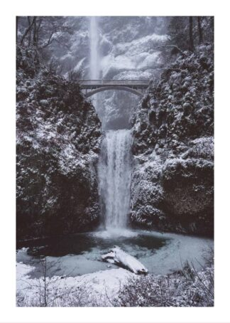 Winter waterfall poster