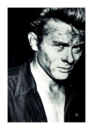 James Dean with dirty face poster