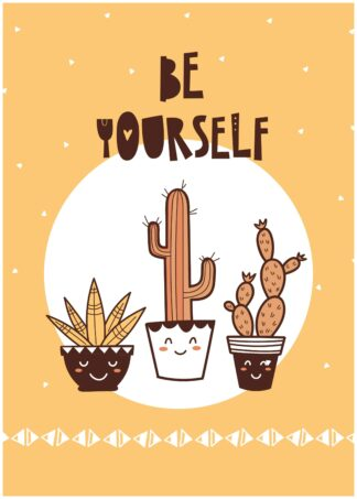 Be yourself cartoon poster