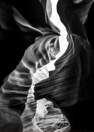 Canyon black and white abstract poster