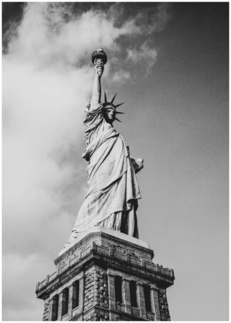 statue of liberty vertical poster